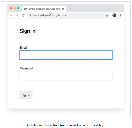 . and X +  C https:J/siwWform.gRev.mR  Sign in  in  Autofocus provides clear visual focus on desktop.