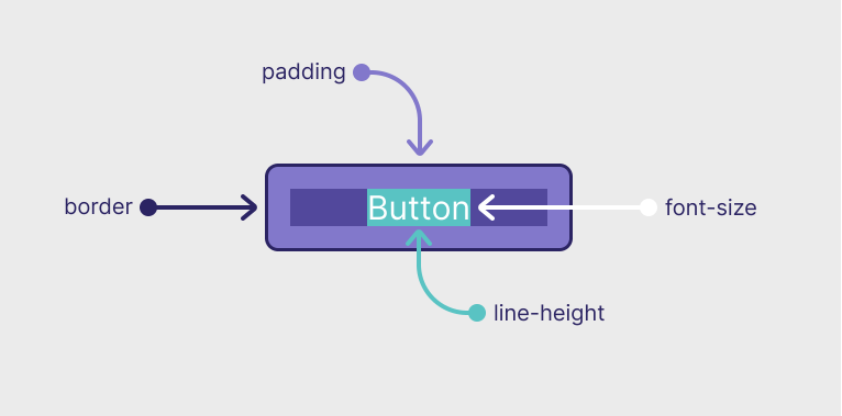 padding  Button  line-height  font-size